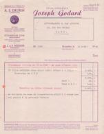 1948: Facture De ## Etabl. JOSEPH GODARD, Rue Mercelis, 75, BRUXELLES ##  à ## Lithographie R. VAN AUTRYVE, Rue ... - Imprimerie & Papeterie