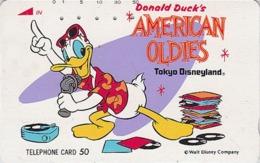 Télécarte Japon DISNEY / 110-85786 - Disneyland / Série American Oldies - Canard DONALD DUCK Musique - Japan Phonecard - Disney