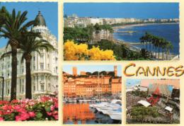CPM - CANNES - MULTIVUES - CARLTON - CROISETTE - LE SUQUET - PALAIS DES FESTIVALS - Cannes