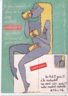 """5744 - Cartexpo 6 - Expo. """" Erotisme Et Pornographique """" -  Illustratrice ; Christine Lesueur - Cp Numérotée : 001875 - - Inwijdingen"""