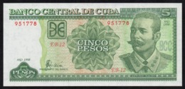 CUBA 5 PESOS 1998 PICK 116b UNC - Kuba