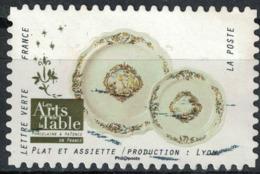 France 2018 Oblitéré Used Arts De La Table Porcelaine Et Faïence Plat Et Assiette Production Lyon Y&T 1537 - Frankreich