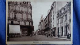 CPSM BOURGES CHER RUE MOYENNE CAFE DES BEAUX ARTS MONOPRIX 1948 ED DUTARD - Bourges