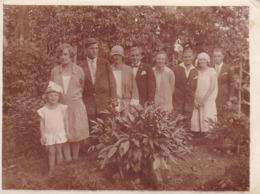 Foto Gesellschaft Im Garten - Männer Und Frauen - Ca. 1930 - 11*8cm (44794) - Anonyme Personen