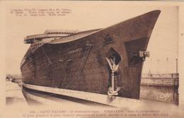 """CPA Saint-Nazaire - Le Transatlantique """"Normandie"""" Dans La Forme Entrée (44796) - Saint Nazaire"""