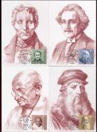 Moldova 2019 Louis Braille - Albert Einstein - Mahatma Gandhi - Leonardo Da Vinci 4Maxicards - Moldawien (Moldau)