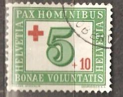 Switzerland: Single Used Stamp, Red Cross, 1945, Mi#464. - Oblitérés