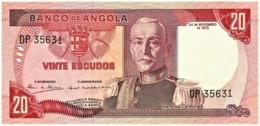 Angola - 20 Escudos - 24.11.1972 - Pick 99 - Série DP - Marechal Carmona - PORTUGAL - Angola