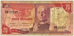 Angola - 20 Escudos - 24.11.1972 - Pick 99 - Série DQ - Marechal Carmona - PORTUGAL - Angola