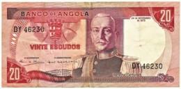 Angola - 20 Escudos - 24.11.1972 - Pick 99 - Série DY - Marechal Carmona - PORTUGAL - Angola
