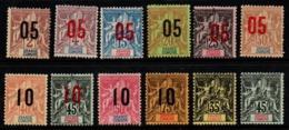 S285.-. GRAND COMORO - 1897-1912 - SC#: 13,15,20-29 - MNG - SCV:US$ 71.00 ++ - Nuovi