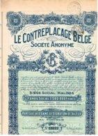Titre Ancien - Le Contreplacage Belge Société Anonyme - Titre De 1927- - Industrie