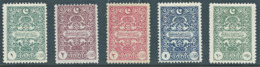 Turchia Turkey Ottoman Republic 1922, GENOA PRINTING POSTAGE DUE STAMPS,excellent Quality,original Gum NH,High Value - Unused Stamps