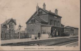 HASNON - La Gare, Vue Intérieure (animée) - Altri Comuni