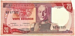 Angola - 20 Escudos - 24.11.1972 - Pick 99 - Série GX - Marechal Carmona - PORTUGAL - Angola
