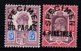 "S298.-. LEVANT- TURKISH EMPIRE - 1902-1905 - SC#: 9,10 - MNG - ""SPECIMEN"" OVERPRINTED - SCV:US$ ???.00 ++ - Britisch-Levant"