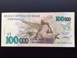 BRAZIL P235 100000 CRUZEIROS 1993 UNC - Brasile