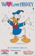 Télécarte Japon / 110-011 - WE LOVE DISNEY - DONALD DUCK -  Bandai Home Video - Japan Phonecard - Disney