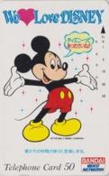 Télécarte Japon / 110-28607 - WE LOVE DISNEY - MICKEY MOUSE -  Bandai Home Video - Japan Phonecard - Disney