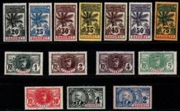 S303.-. DAHOMEY - 1906-1907 - SC#: 17-30 - MNG - SCV:US$ 178.00 ++ - Dahome (1899-1944)