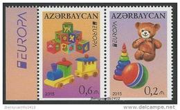 """AZERBAIJAN // AZERBAYCAN  -EUROPA 2015- """"JUGUETES ANTIGUOS / OLD TOYS""""- SERIE 2 V. Del CARNET- - Europa-CEPT"""