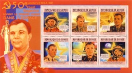 Guinea, 2011. [gu11305] 50th Anniversary Of The First Man In Space (1961), Y.Gagarin (s\s+block) - Espace