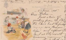 """Hamburg-America Linie Ocean Liner ,Am Bord """"DEUTSCHLAND"""" , 1905 - Paquebots"""