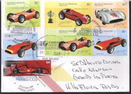 Argentina - 2009 - Lettre - Racecars - Automobile - Ferrari - Maserati - Mercedez Benz - Alfa Romeo - Automobile
