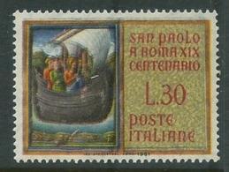 ITALIA 1961 SAN PAOLO SAINT RELIGIONE VARIETA' COLORI FUORI REGISTRO NUOVO ** - Abarten Und Kuriositäten