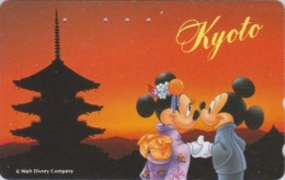 Télécarte Japon / 110-171013 - DISNEY  Série Voyage N° 4  - KYOTO - MICKEY MINNIE PAGODE Sunset - Japan Phonecard - Disney