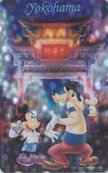 Télécarte NEUVE ARGENT Japon / 110-191425 - Série Voyage YOKOHAMA - MICKEY GOOFY Chien Dog - Japan MINT SILVER Phonecard - Disney