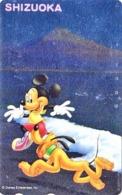 TC NEUVE ARGENT Japon / 110-191427 - DISNEY - Série Voyage SHIZUOKA  MICKEY MONT FUJI & Chien PLUTO Japan SILVER MINT PC - Disney
