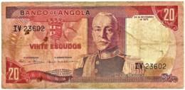 Angola - 20 Escudos - 24.11.1972 - Pick 99 - Série IV - Marechal Carmona - PORTUGAL - Angola