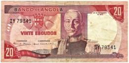 Angola - 20 Escudos - 24.11.1972 - Pick 99 - Série IY - Marechal Carmona - PORTUGAL - Angola