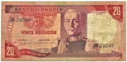Angola - 20 Escudos - 24.11.1972 - Pick 99 - Série JN - Marechal Carmona - PORTUGAL - Angola