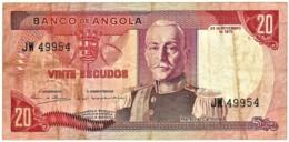Angola - 20 Escudos - 24.11.1972 - Pick 99 - Série JW - Marechal Carmona - PORTUGAL - Angola
