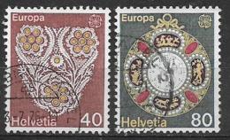 SVIZZERA -1976 EUROPA UNIF. 1003-1004 USATA VF - Usati