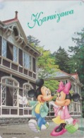 Télécarte Japon / 110-178884 - DISNEY  - Série Voyage N° 11 - KARIUZAWA - MICKEY & MINNIE - Japan Phonecard - Disney