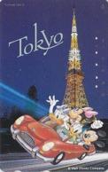 Télécarte Japon / 110-175729 - DISNEY  - Série Voyage N° 5 - TOKYO TOWER - MICKEY MINNIE DONALD DAISY Japan Phonecard - Disney