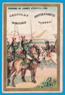 IMAGE DUROYON & RAMETTE CAMBRAI NORD CHICOREE CHOCOLAT / CHROMO SENECAUT ROUBAIX  DRAGONS DE L'ARMEE D'EGYPTE 1799 - Duroyon & Ramette