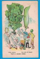 IMAGE DUROYON & RAMETTE CAMBRAI NORD CHICOREE CHOCOLAT / COURBE-ROUZET TYPO ET LITHO DOLE / FRUITS ET LEGUMES ANIMES - Duroyon & Ramette