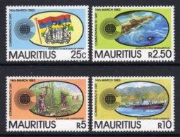 MAURITIUS - 1983 COMMONWEALTH DAY SET (4V) FINE MNH ** SG 653-656 - Mauritius (1968-...)