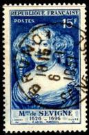 France Poste Obl Yv: 874 Mi:892 Mme De Sévigné Ecrivain 6-1-1951 (TB Cachet à Date) - Gebraucht