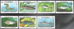 Nicaragua  1987   Sc#1661-7  Fish Set  MNH  2016 Scott Value $5.05 - Nicaragua
