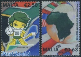 Malta 2010 World Cup Football 2v, (Mint NH), Various - Maps - Sport - Football - Malta