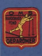 88 ECUSSON TISSUS GERARDMER O M S RENDONNEE FOND SKI - Stoffabzeichen