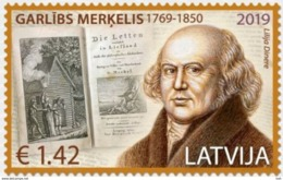 Latvia Lettland 2019.250th Anniversary Of Garlieb Merkel - Baltic German Writer  MNH - Letland
