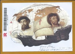 Registered Letter 500 Years Of Fernando Magalhães / Elcano Circumnavigation World Trip. Caravel. Wind. Discoveries. Geog - Explorateurs