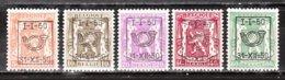 PRE599/603**  Petit Sceau De L'Etat - Année 1950 - Série Complète - MNH** - LOOK!!!! - Precancels