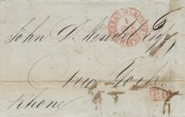 1843- Lettre Du HAVRE ( Seine Maritime ) Cad   BUREAU MARITIME / HAVRE  En P.P.  Pour New-York - 1801-1848: Voorlopers XIX